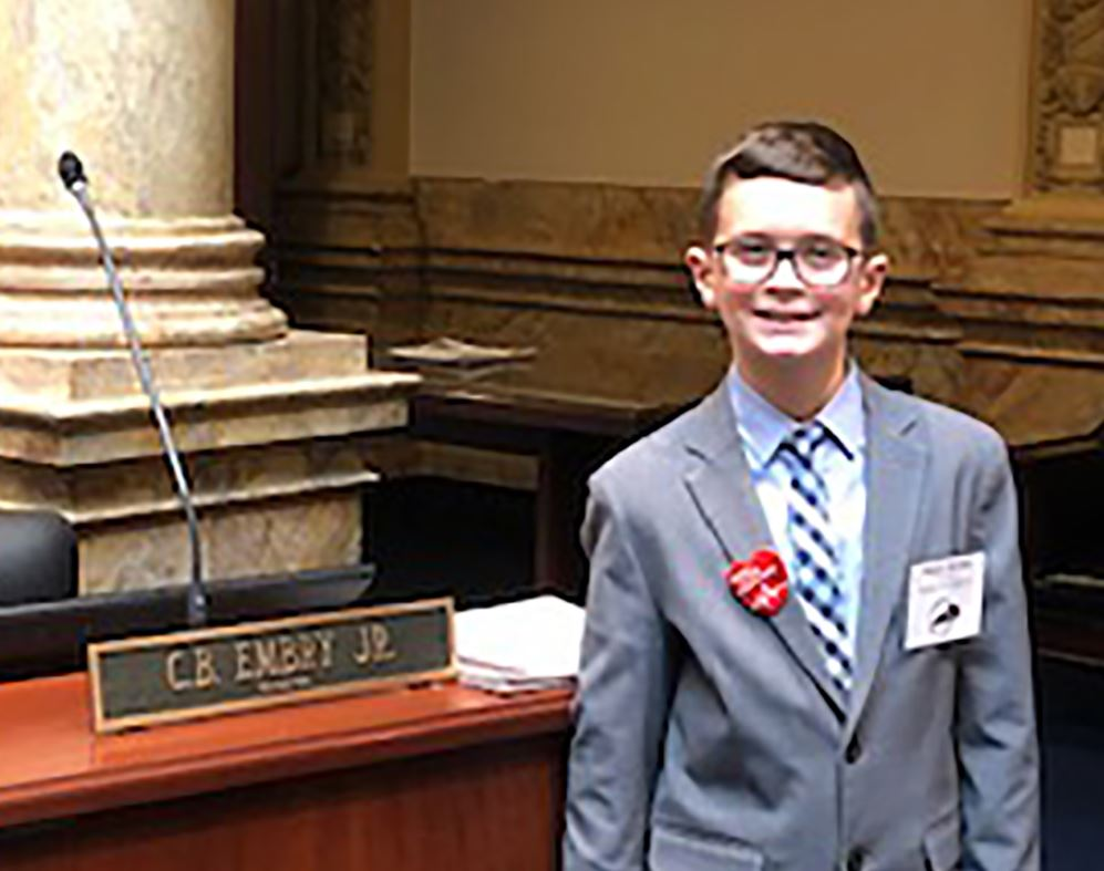 Student participates in Legislative Page Day
